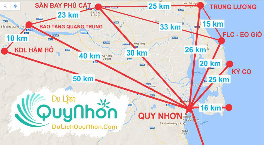 Bản đồ du lịch Quy Nhơn – Bình Định